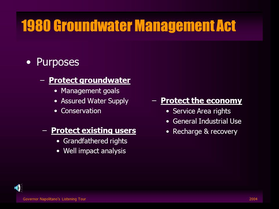 Governor Napolitano's Listening Tour2004 Long-Range Planning Improved tools –Finer resolution analysis Enhanced linkages to policy
