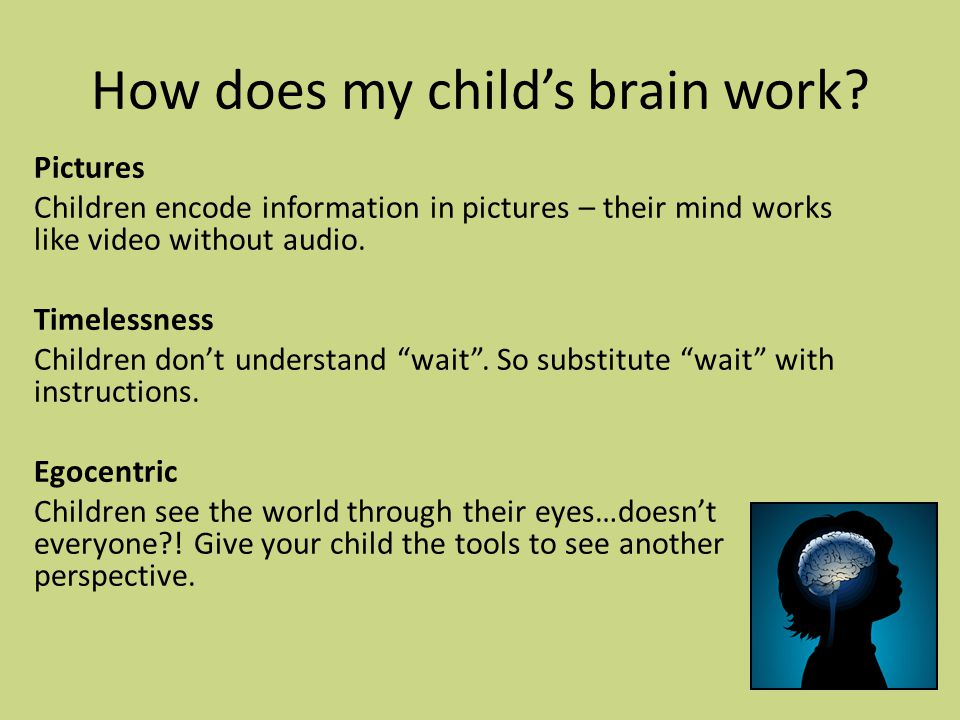 How does my child's brain work.