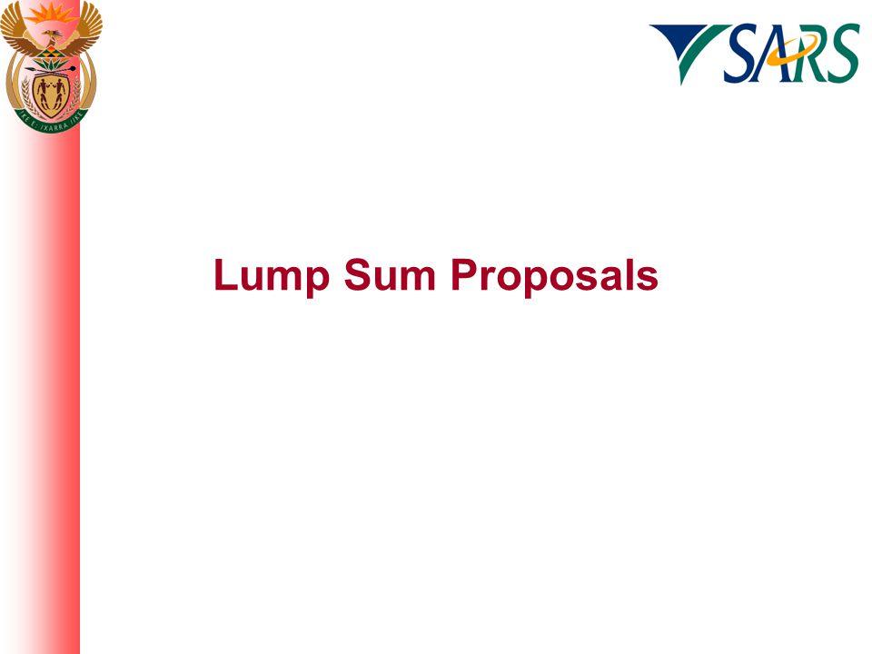 Lump Sum Proposals