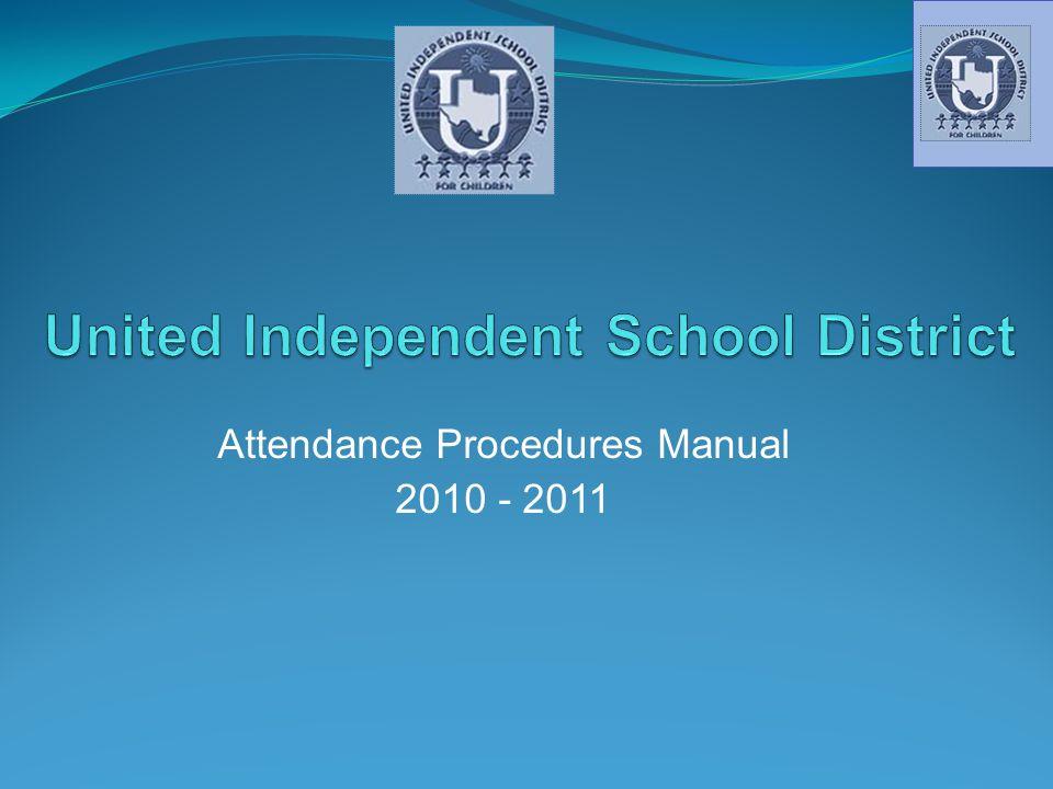 Attendance Procedures Manual 2010 - 2011