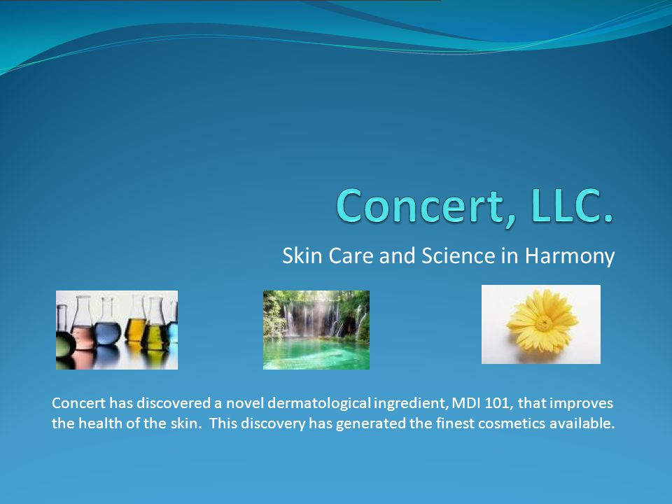 Skin Care and Science in Harmony Concert has discovered a novel dermatological ingredient, MDI 101, that improves the health of the skin.