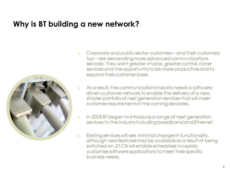 Why is BT building a new network.
