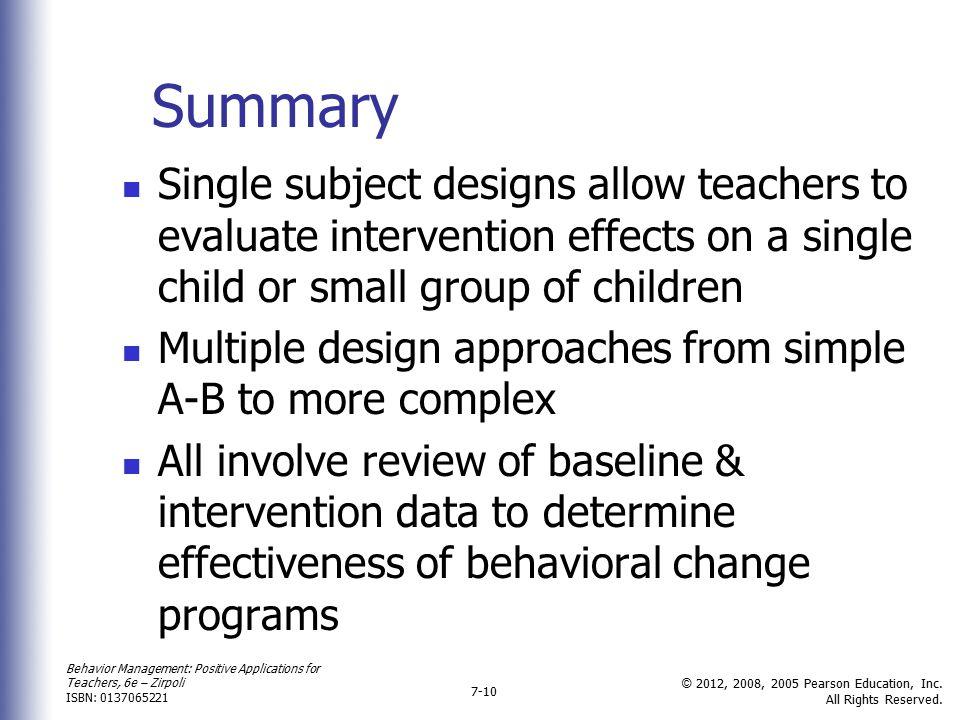 Behavior Management: Positive Applications for Teachers, 6e – Zirpoli ISBN: 0137065221 © 2012, 2008, 2005 Pearson Education, Inc.