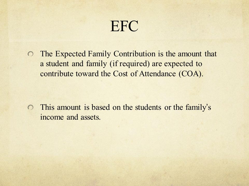 Loan Amounts Cannot EVER go over COA Must fall within annual loan amounts Must fall under aggregate loan amounts COA – EFA - EFC = Need (Sub) COA - EFA = Non-need (Unsub)