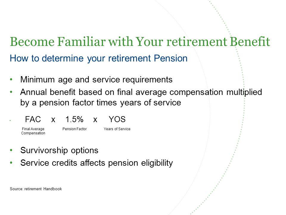 Adding to Your Service Credit Source: retirement Handbook