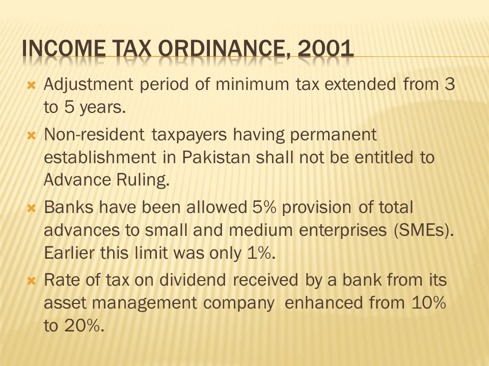  Adjustment period of minimum tax extended from 3 to 5 years.