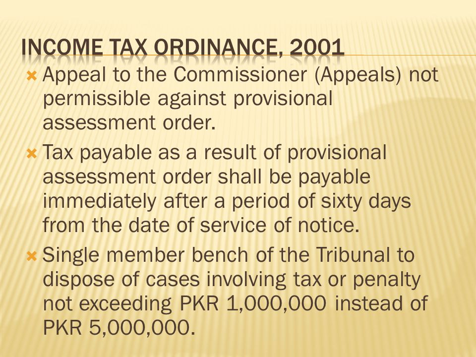  Appeal to the Commissioner (Appeals) not permissible against provisional assessment order.