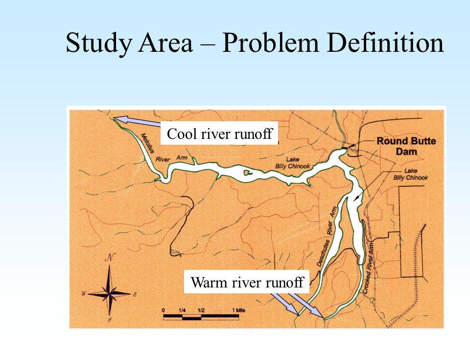 Study Area – Problem Definition Cool river runoff Warm river runoff