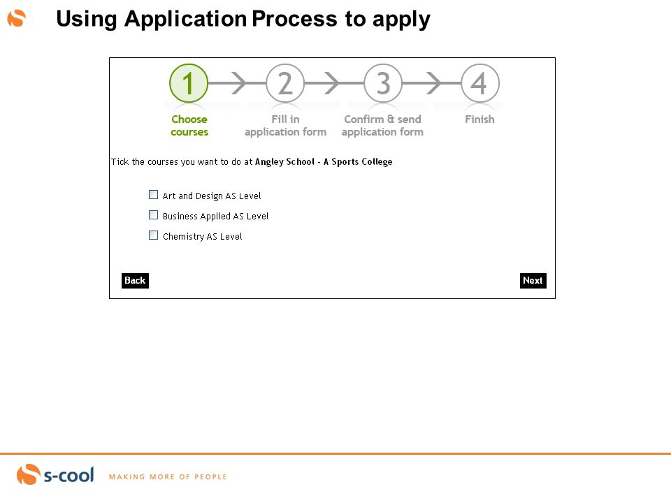 abby.west@S-cool.co.ukSlide 11 Using Application Process to apply