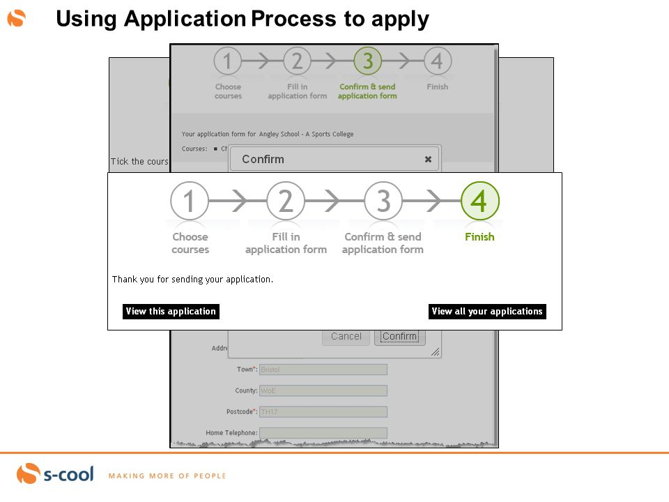abby.west@S-cool.co.ukSlide 15 Using Application Process to apply