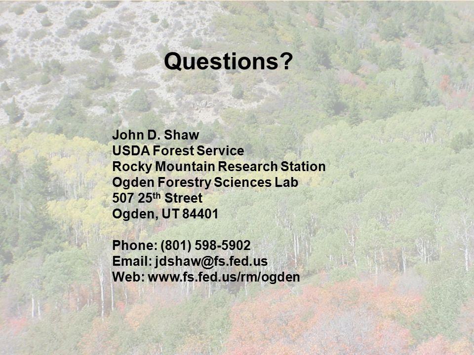 Questions. John D.