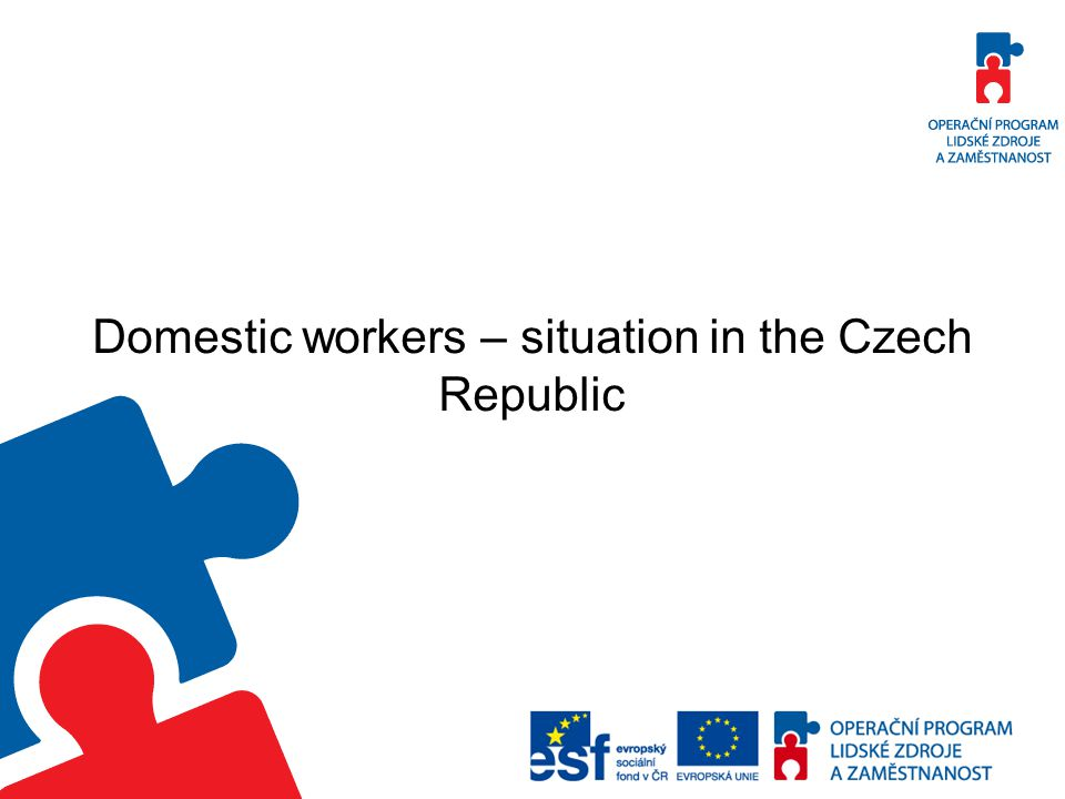 Domestic workers – situation in the Czech Republic