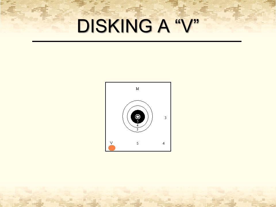 "DISKING A ""V"""