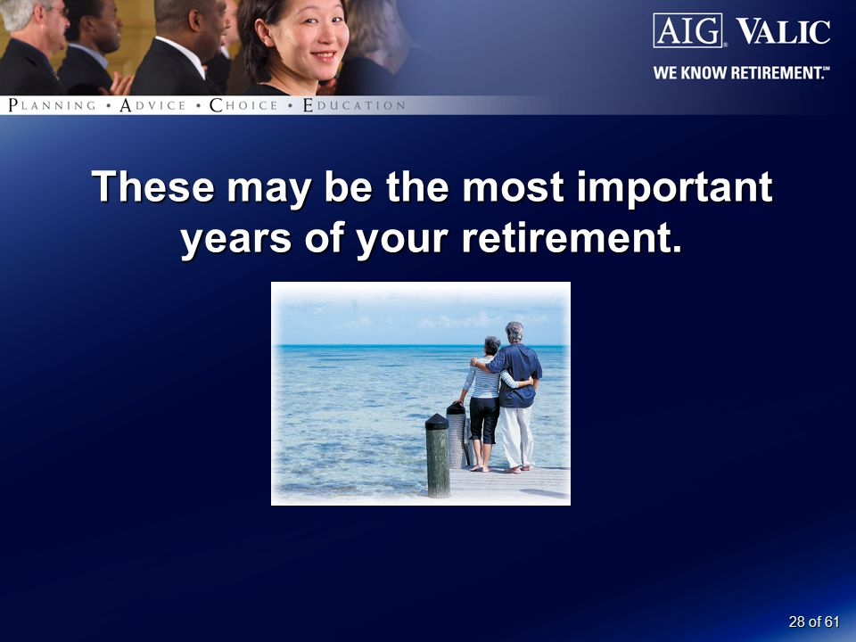 28 of 61 These may be the most important years of your retirement.