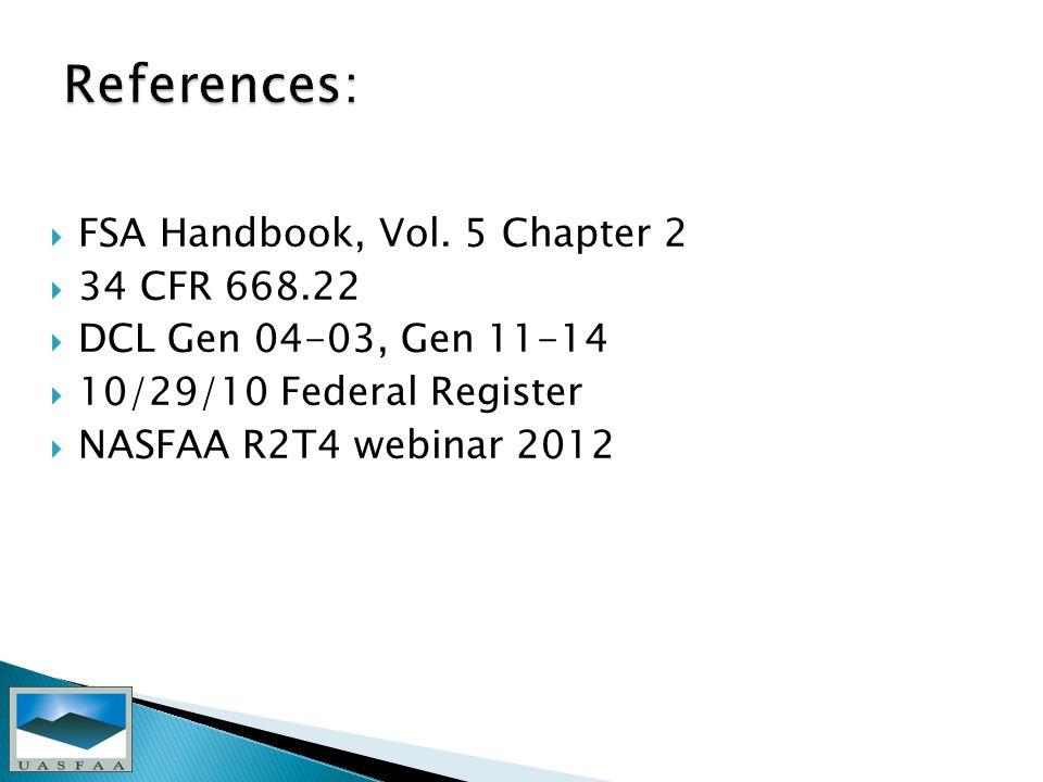  FSA Handbook, Vol.