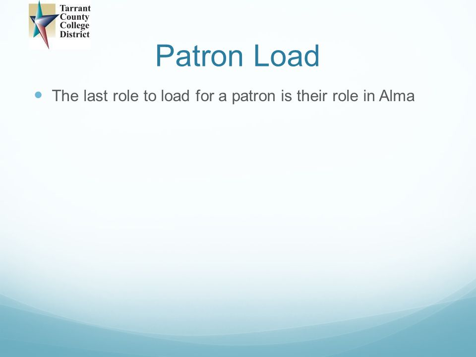 Patron Load
