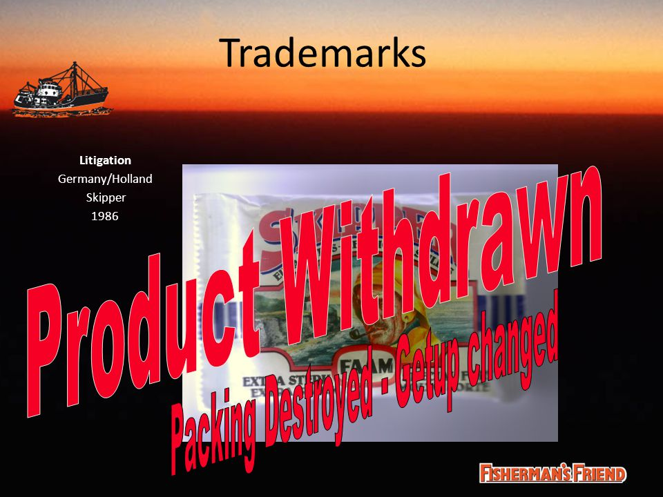 Trademarks Litigation Germany/Holland Skipper 1986
