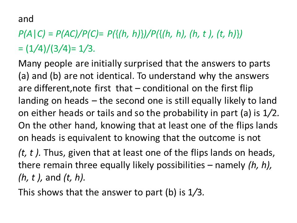 It follows from equation (3.1) that P(AB) = P(B)P(A B).