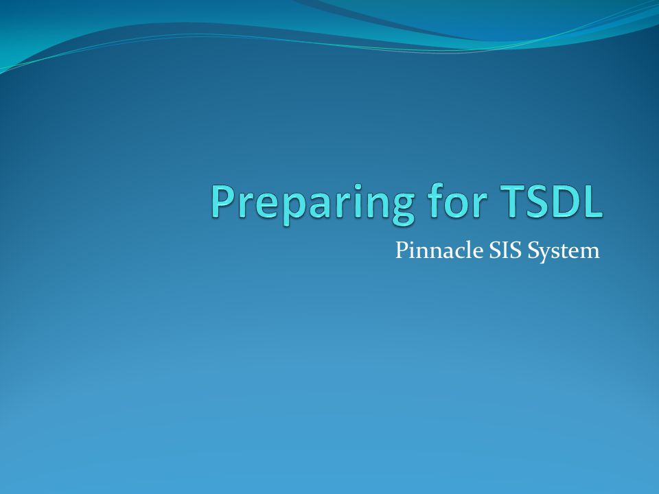 Agenda Philosophy of TSDL Challenges Involved Documentation Available Preparation Steps Generating Files