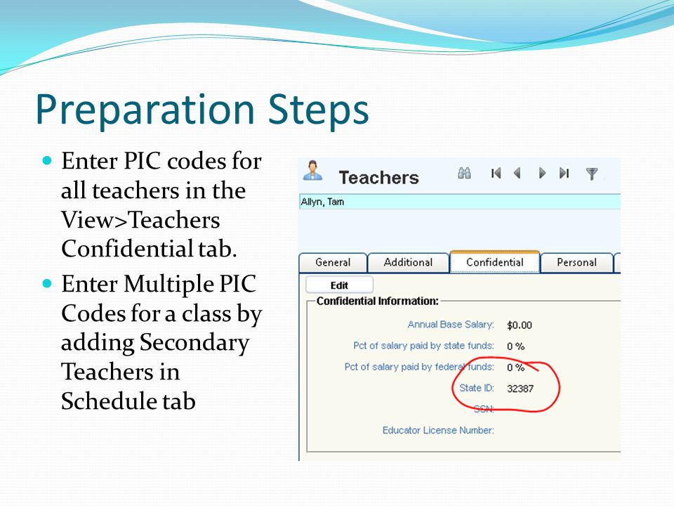 Preparation Steps In View>District Courses General tab Enter NCES Subject Codes NCES Course Codes (now required for elementary) Course Types Virtual Delivery (new) Mentor Teacher (new) Exclude from State Reporting