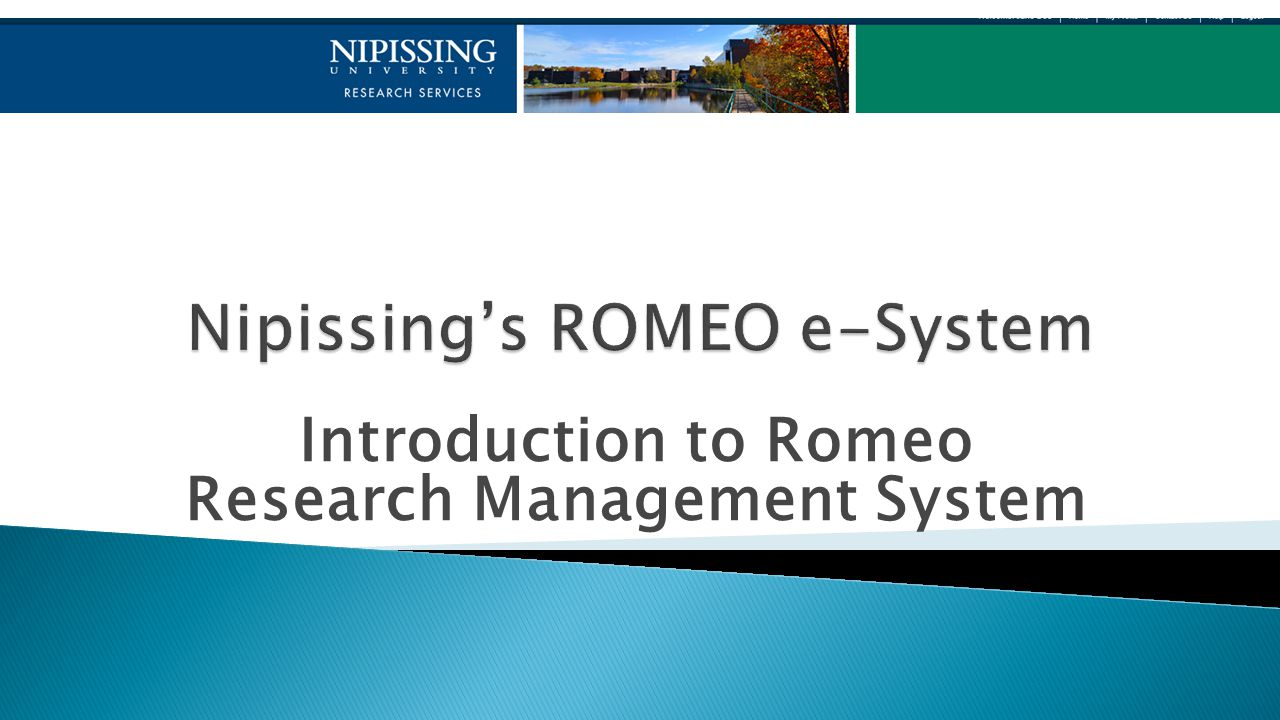 Introduction to Romeo Research Management System