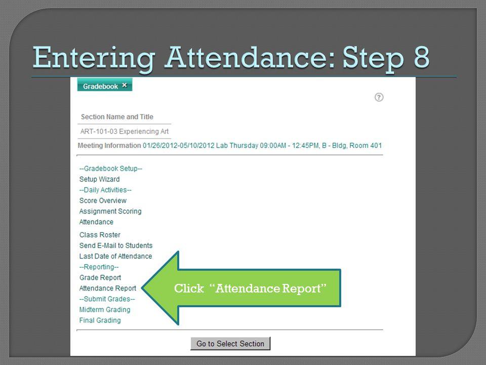 Click Attendance Report