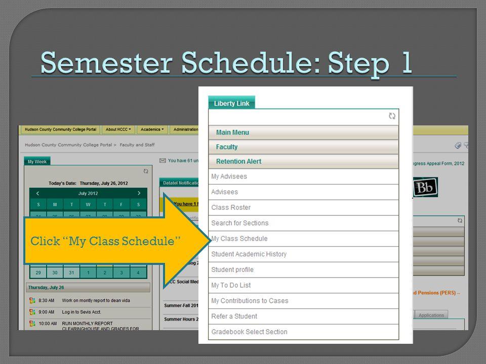 Click My Class Schedule