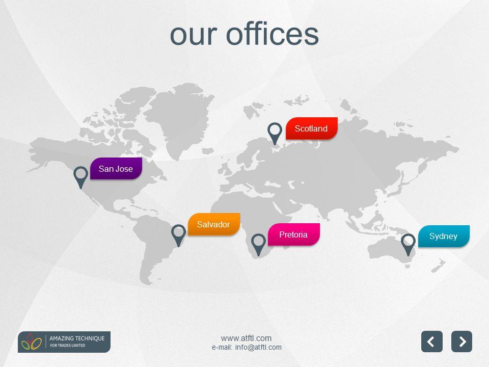 www.atftl.com e-mail: info@atftl.com our offices Scotland Sydney Pretoria Salvador San Jose