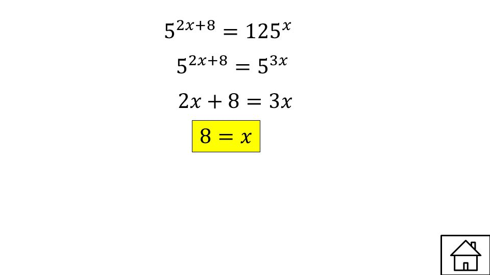Write in exponential form Answer