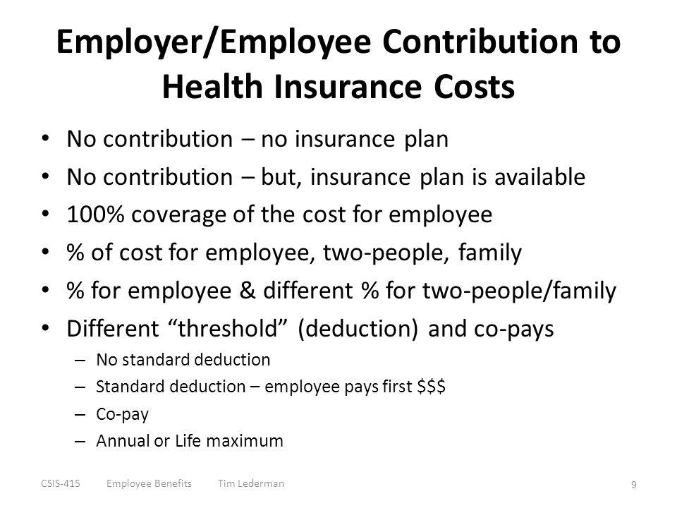 Other Insurance Life Insurance Long-Term Care Insurance Job-Related Travel & Accident Insurance CSIS-415 Employee Benefits Tim Lederman 10