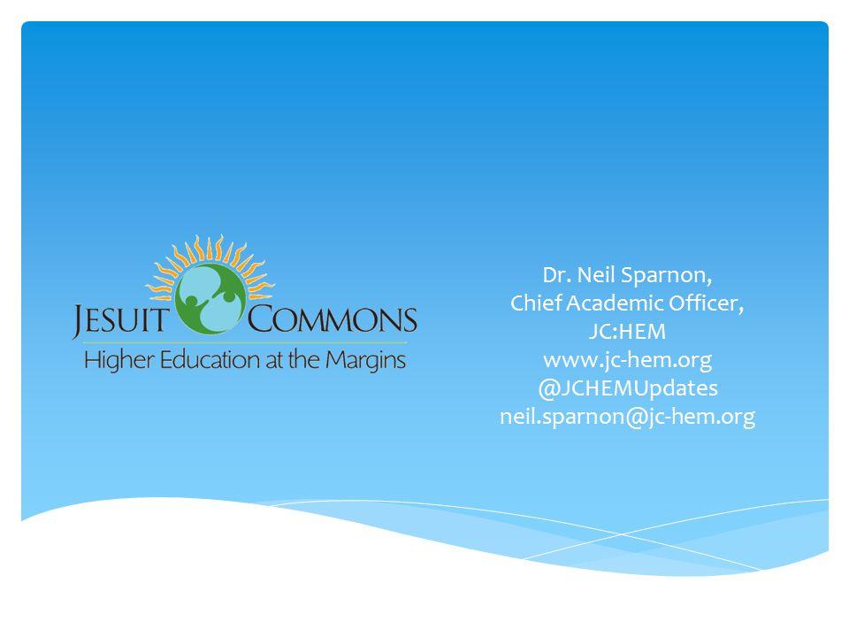 Dr. Neil Sparnon, Chief Academic Officer, JC:HEM www.jc-hem.org @JCHEMUpdates neil.sparnon@jc-hem.org
