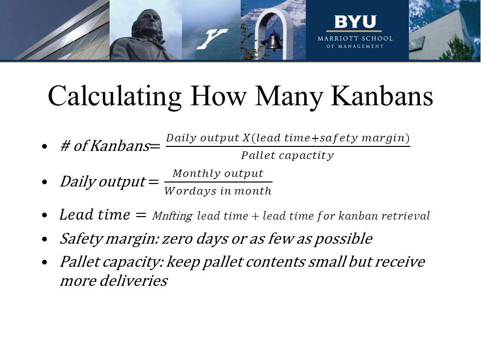 Calculating How Many Kanbans