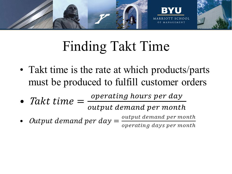 Finding Takt Time
