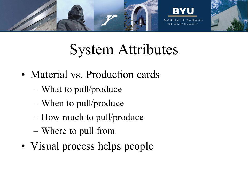 System Attributes Material vs.
