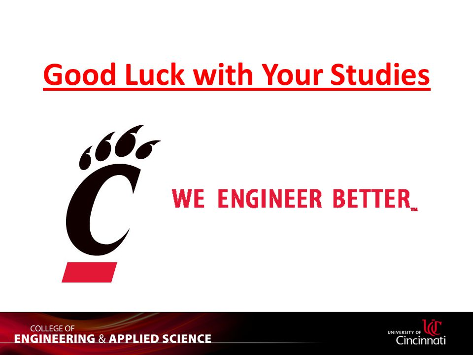 Good Luck with Your Studies