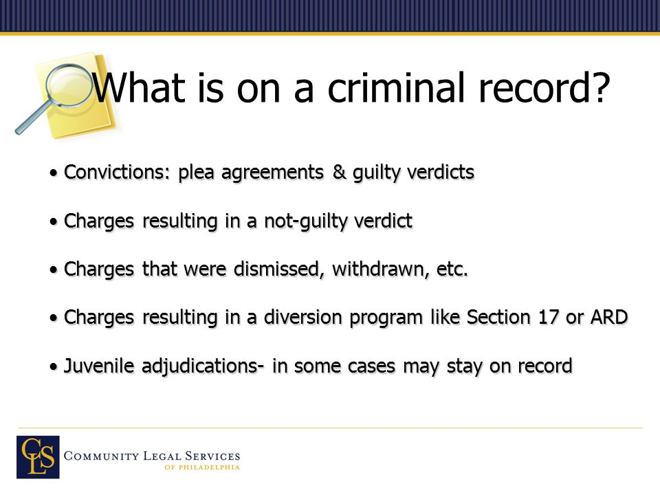 What is on a criminal record.