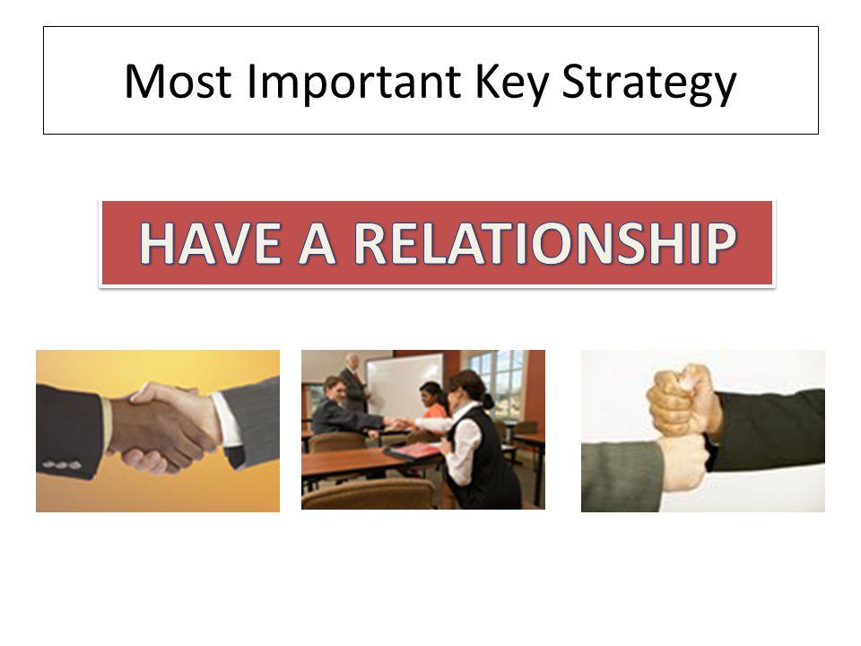 Most Important Key Strategy