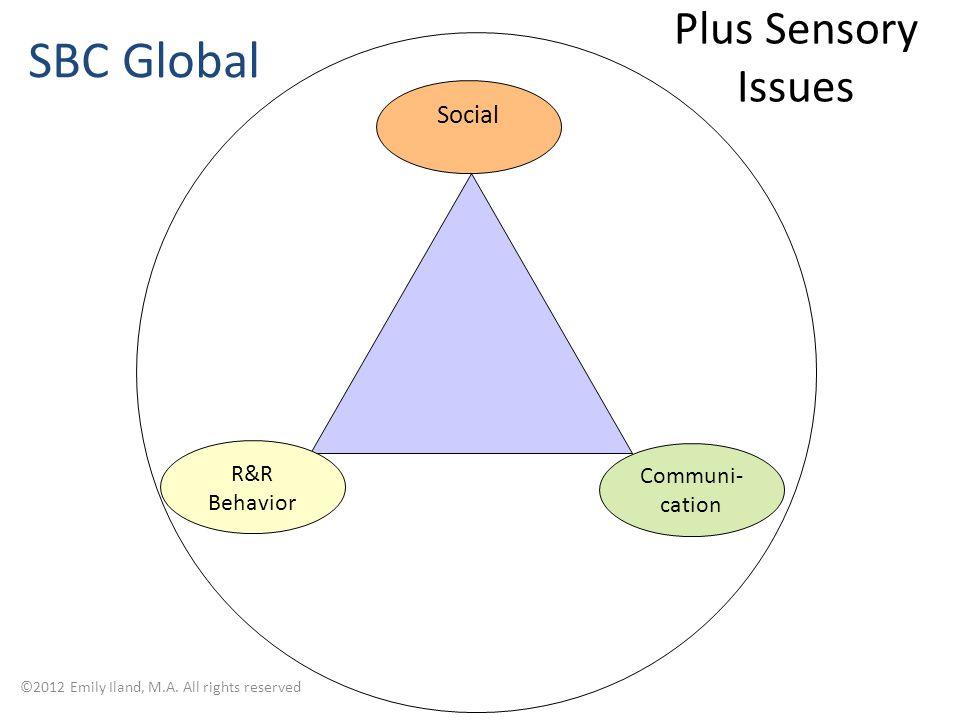 R&R Behavior Social Communi- cation Plus Sensory Issues ©2012 Emily Iland, M.A.