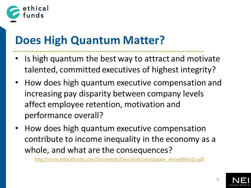 Does High Quantum Matter.