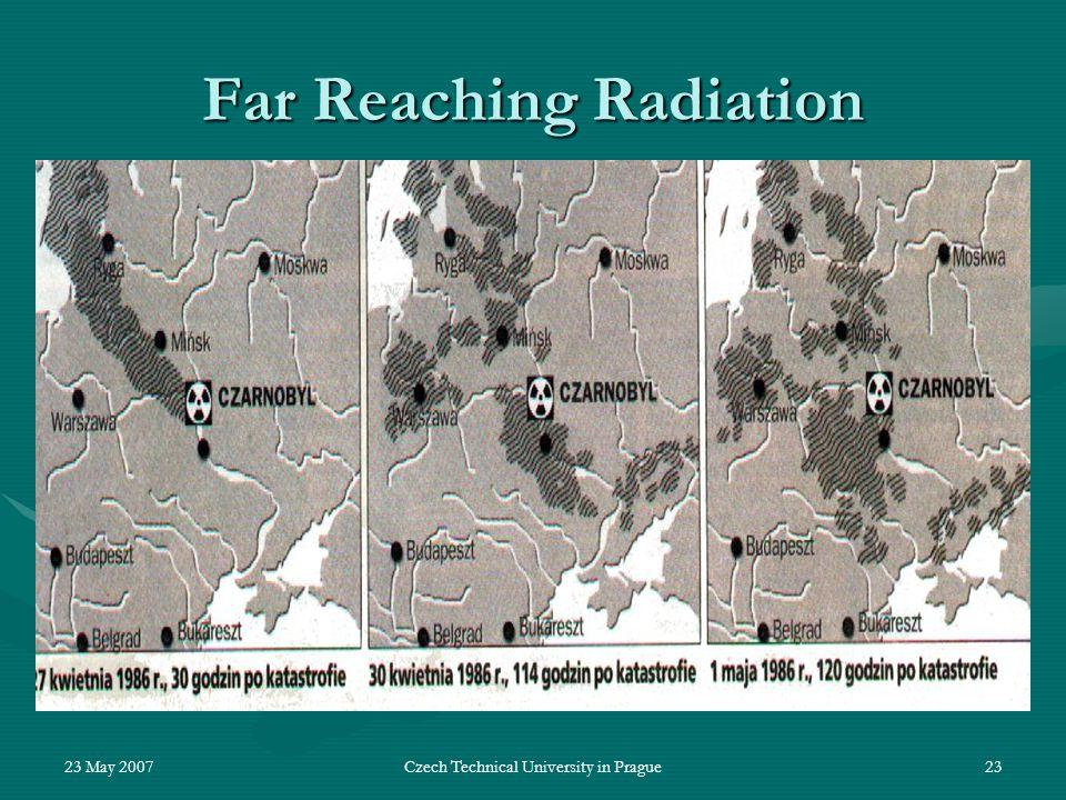 23 May 2007Czech Technical University in Prague23 Far Reaching Radiation