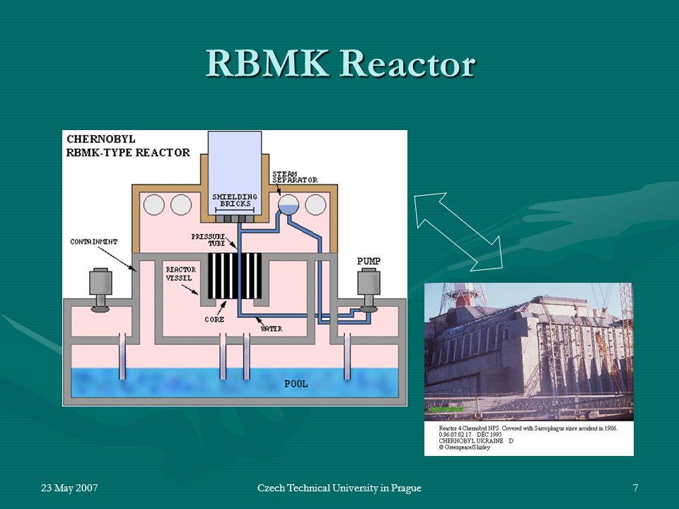 23 May 2007Czech Technical University in Prague7 RBMK Reactor