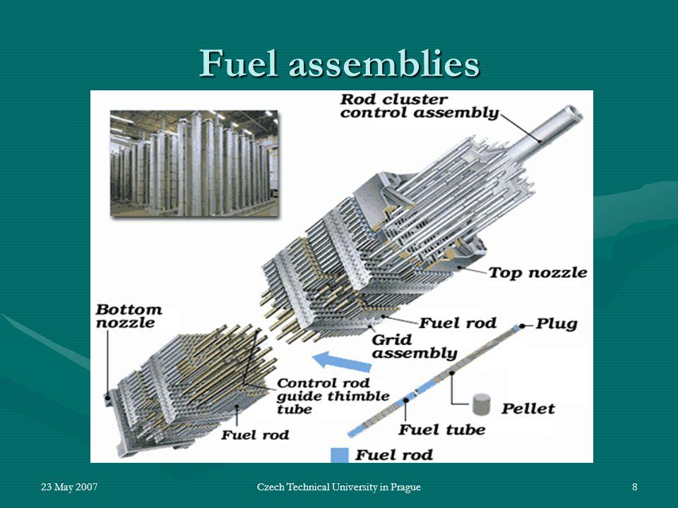 23 May 2007Czech Technical University in Prague8 Fuel assemblies