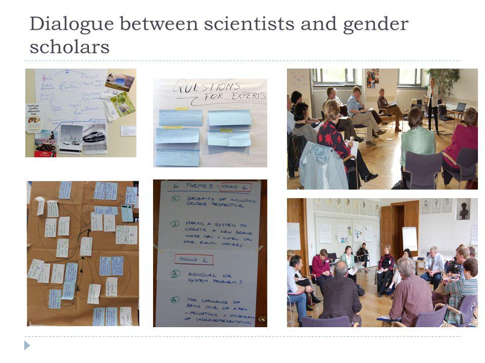 Dialogue between scientists and gender scholars
