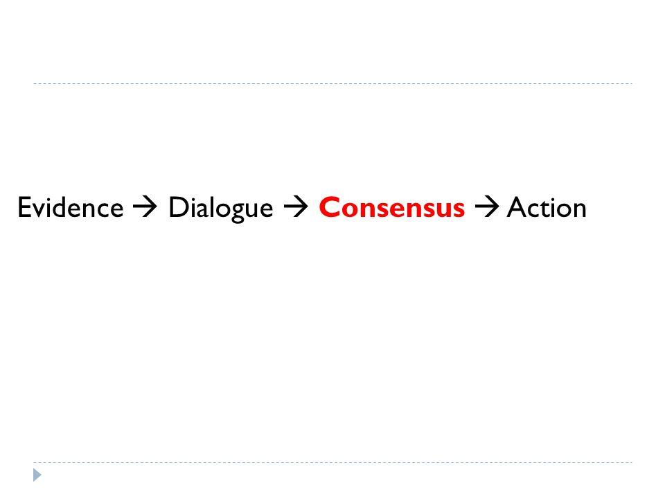 Evidence  Dialogue  Consensus  Action