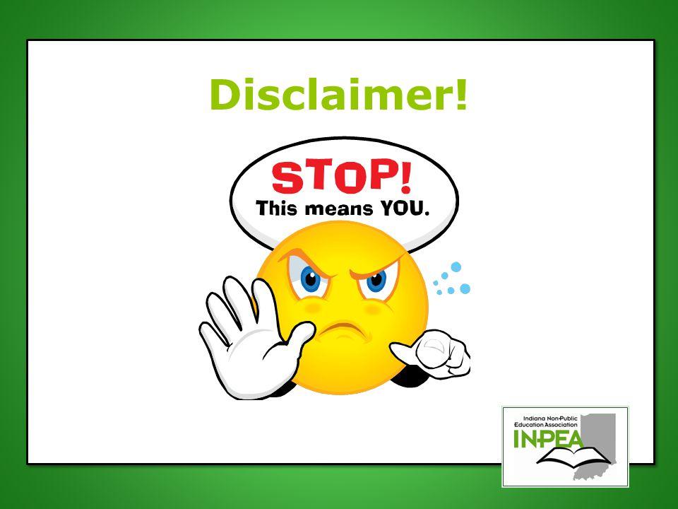 Disclaimer!