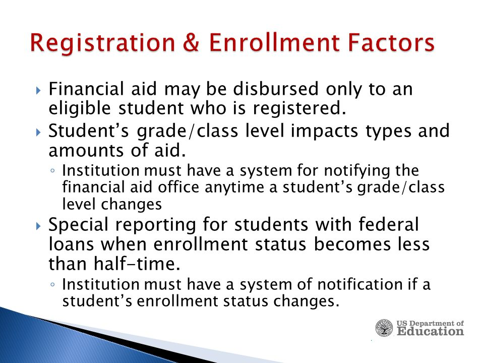  Institution must have a system for identifying students who registered for, but failed to begin attendance in any or all classes.