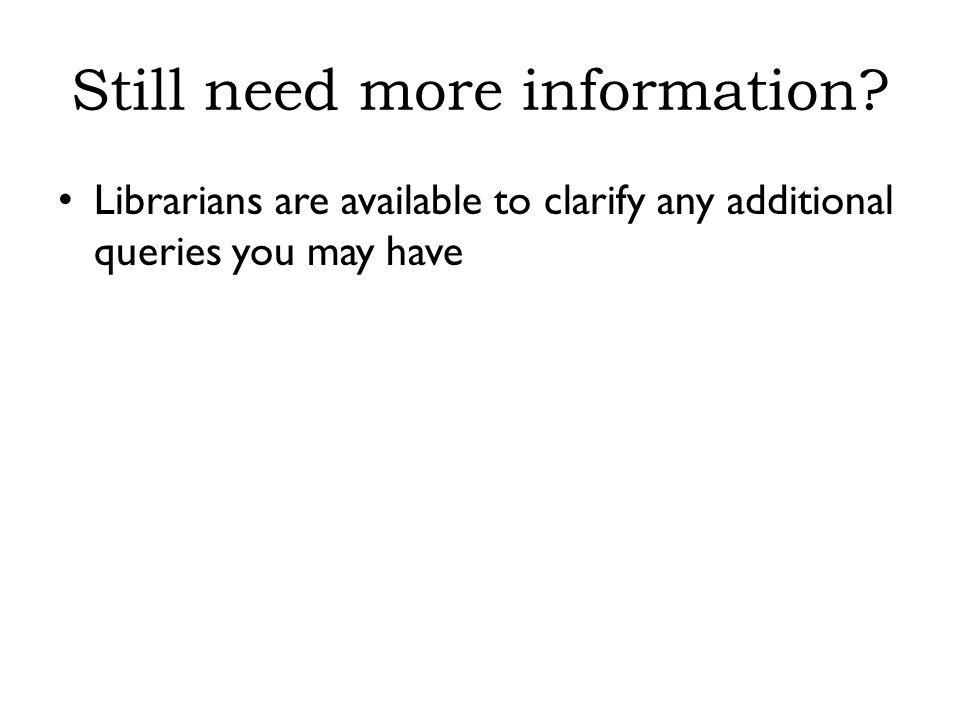 Still need more information.