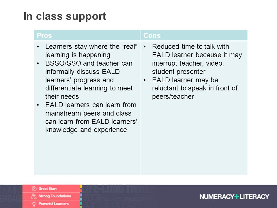 """Faculty of Edit this on the Slide MasterThe University of Adelaide In class support ProsCons Learners stay where the """"real"""" learning is happening BSSO"""