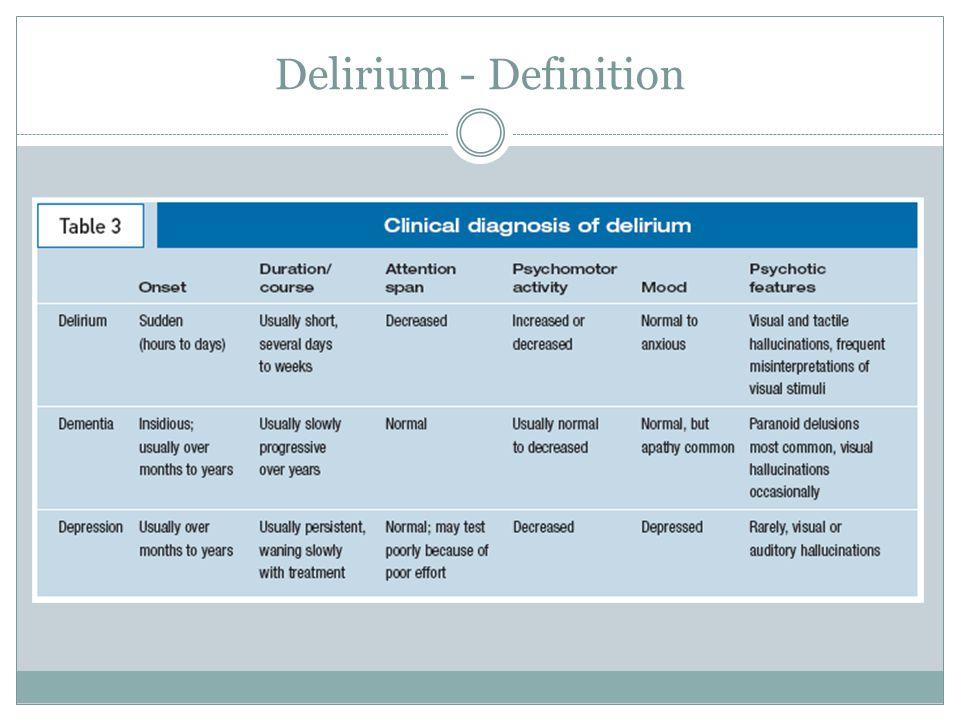Delirium - Definition