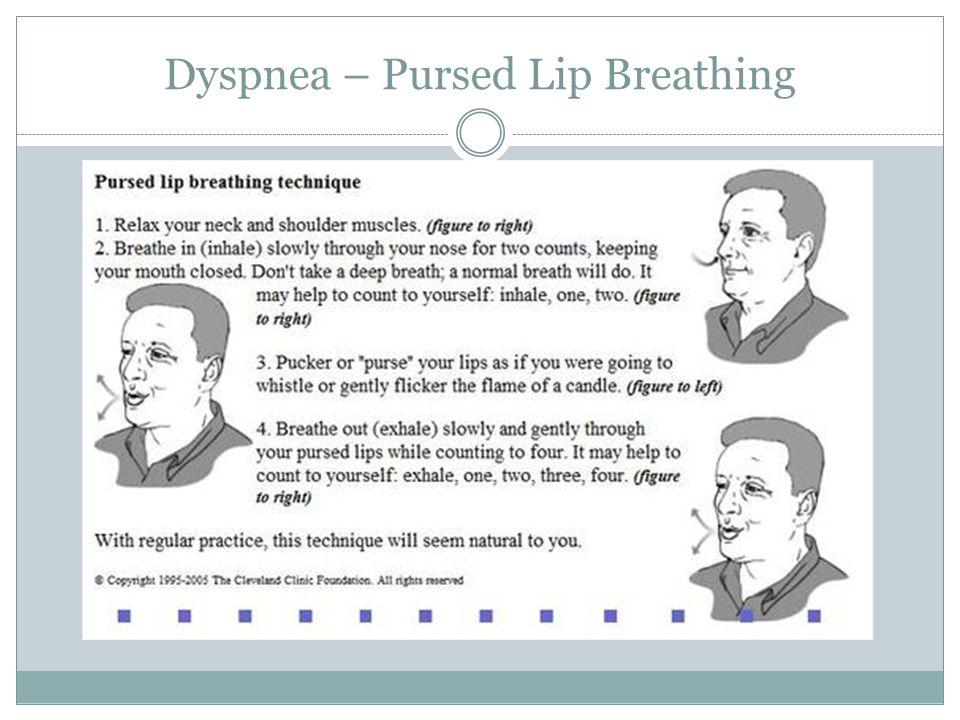 Dyspnea – Pursed Lip Breathing